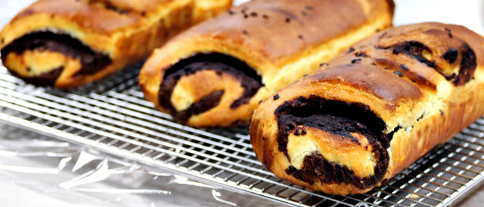 Chocolate Pastry Cream Filled Yule Log Brioche