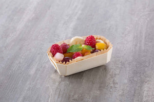 mini fruit salad in tom pouce baking mold