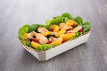 shrimp salad in marquis baking mold