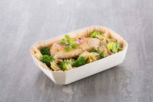 chicken and broccoli steamed in panibois