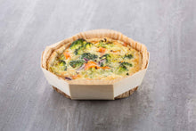 quiche prepped and baked in octo 145 wooden baking mold