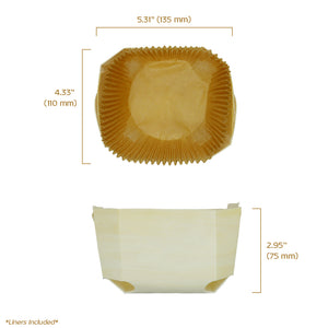 "comte baking mold 5.38"" x 4.38"" x 2.88"" capacity 500 grams or 17 oz"