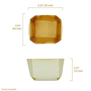 "comtesse baking mold 4.5"" x 4.38"" x 2.88"" capacity 400 grams or 14 oz"