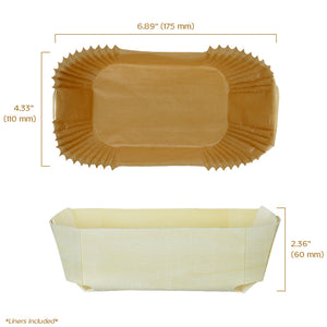 "duc wooden baking mold 6.88"" x 4.38"" x 2.38"" capacity 500 gr or 17 oz"