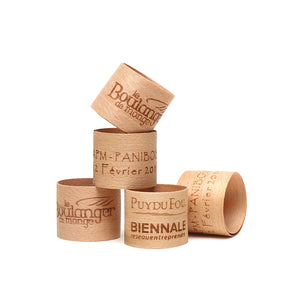 panibois wooden bread and napkin rings