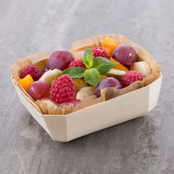 fruit salad served in panibois petit prince baking mold