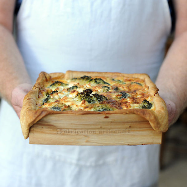 quiche baked in panibois torte square
