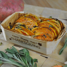 sweet potato gratin prepped baked and served in panibois prince baking mold