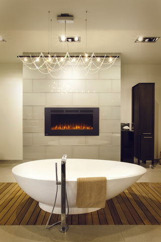 "42"" ALLURE TM SERIES WALL MOUNT ELECTRIC FIREPLACE WITH HEATER"