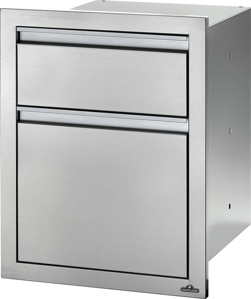 "18"" X 24"" DOUBLE DRAWER: LARGE AND STANDARD-Napoleon-BBQ STORE MALTA"