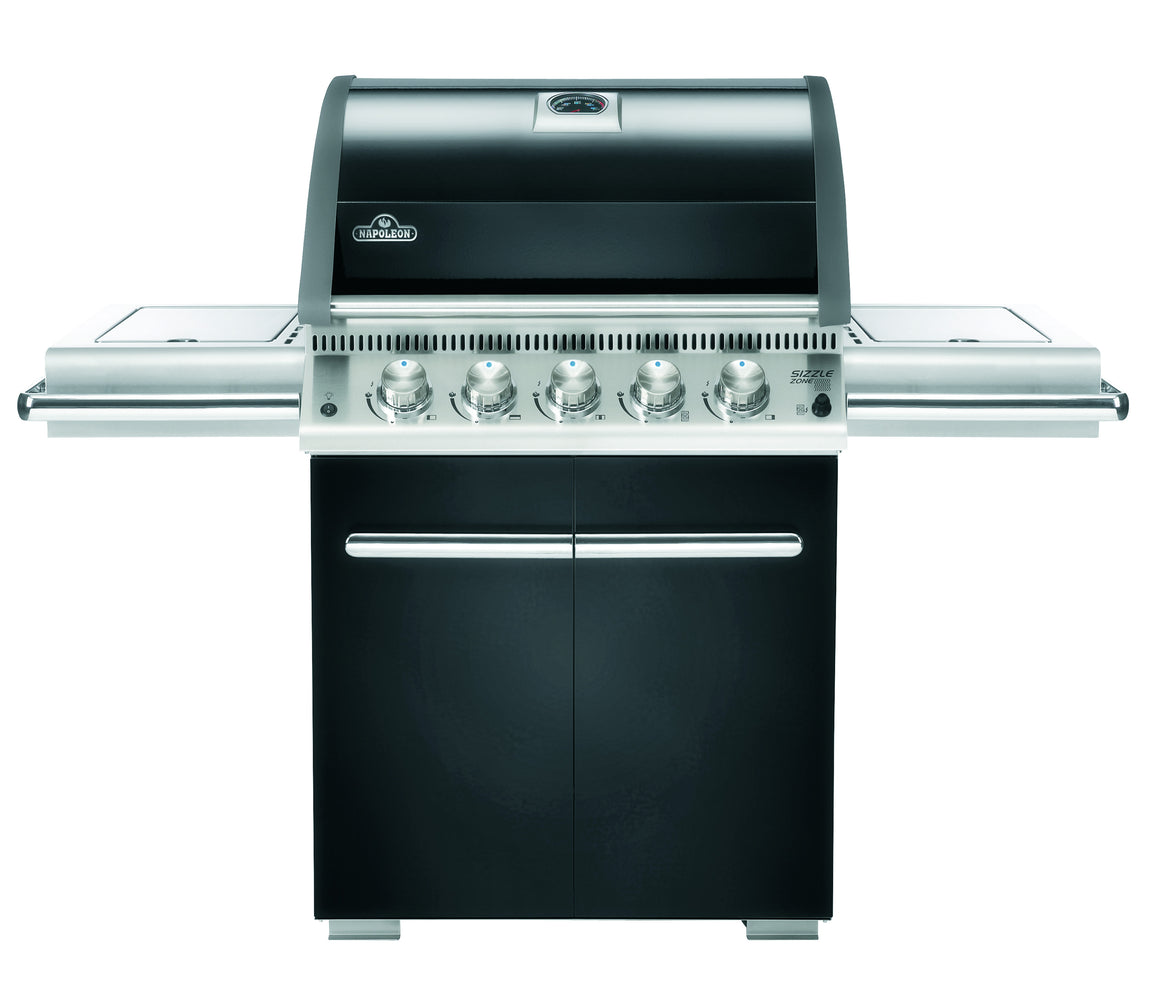 LE3 with Infrared Rear and Side Burners (Black)-BBQ STORE MALTA