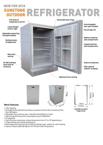 Outdoor Rated Refrigerator