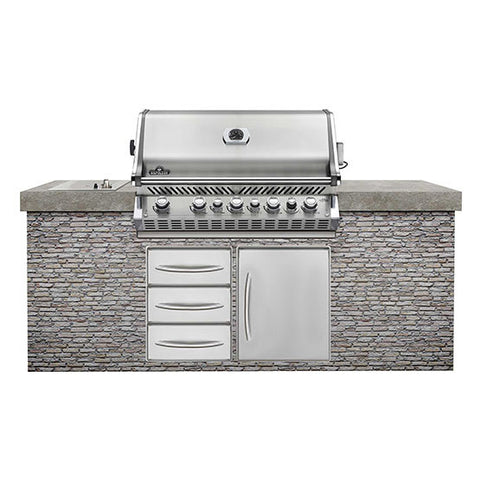Built-In PRO 665 with Infrared Rear Burner-BBQ STORE MALTA