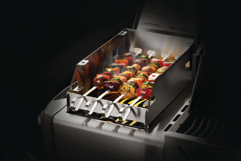 SIZZLE ZONE™ Burner Windshield and Skewer Rack - Large
