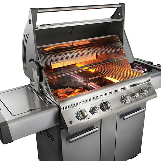 LEX 605 with Side Burner and Infrared Bottom & Rear Burners-BBQ STORE MALTA