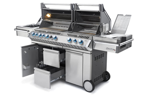PRESTIGE PRO™ 825 WITH SIDE BURNER AND INFRARED REAR & BOTTOM BURNERS-BBQ STORE MALTA