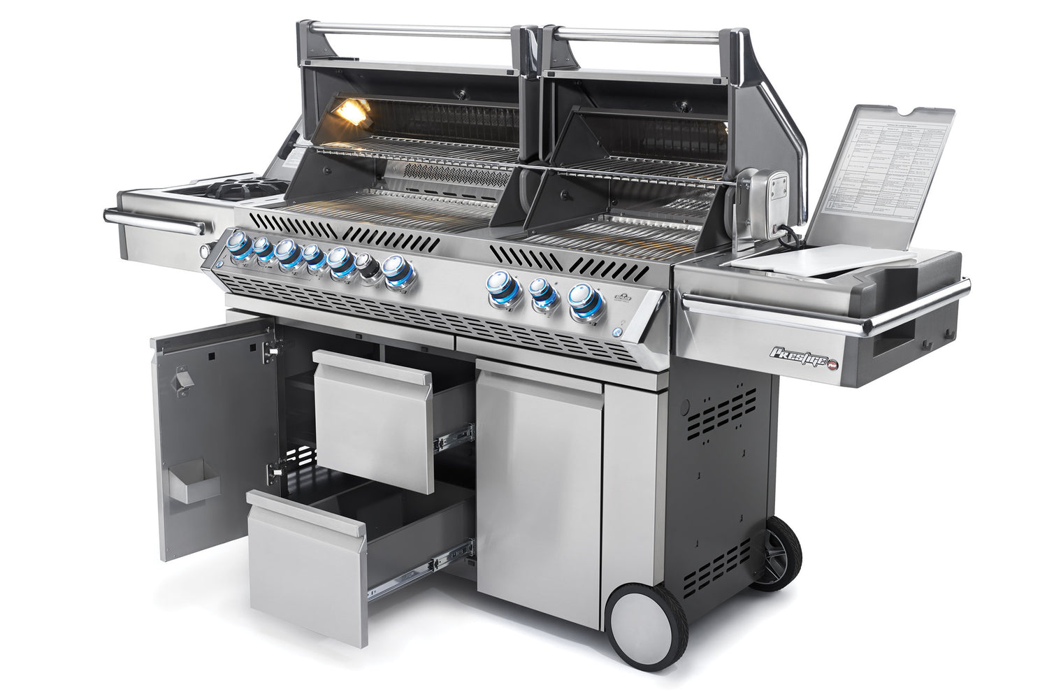 PRESTIGE PRO™ 825 WITH SIDE BURNER AND INFRARED REAR & BOTTOM BURNERS-Napoleon-BBQ STORE MALTA