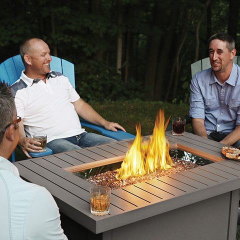 Hamptons Series Rectangular Patioflame Table-BBQ STORE MALTA
