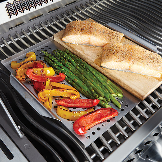 Stainless Steel Topper with Cedar Planks-BBQ STORE MALTA