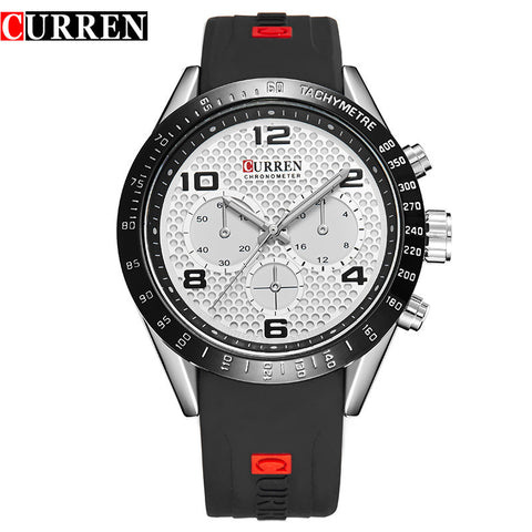 curren male watches men luxury brand sport rubber strap watch men curren male watches men luxury brand sport rubber strap watch men casual quart anlog wristwatches