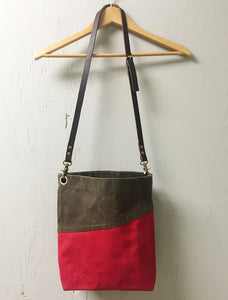 Cross Body Waxed Canvas Bag - Cherry & Stone