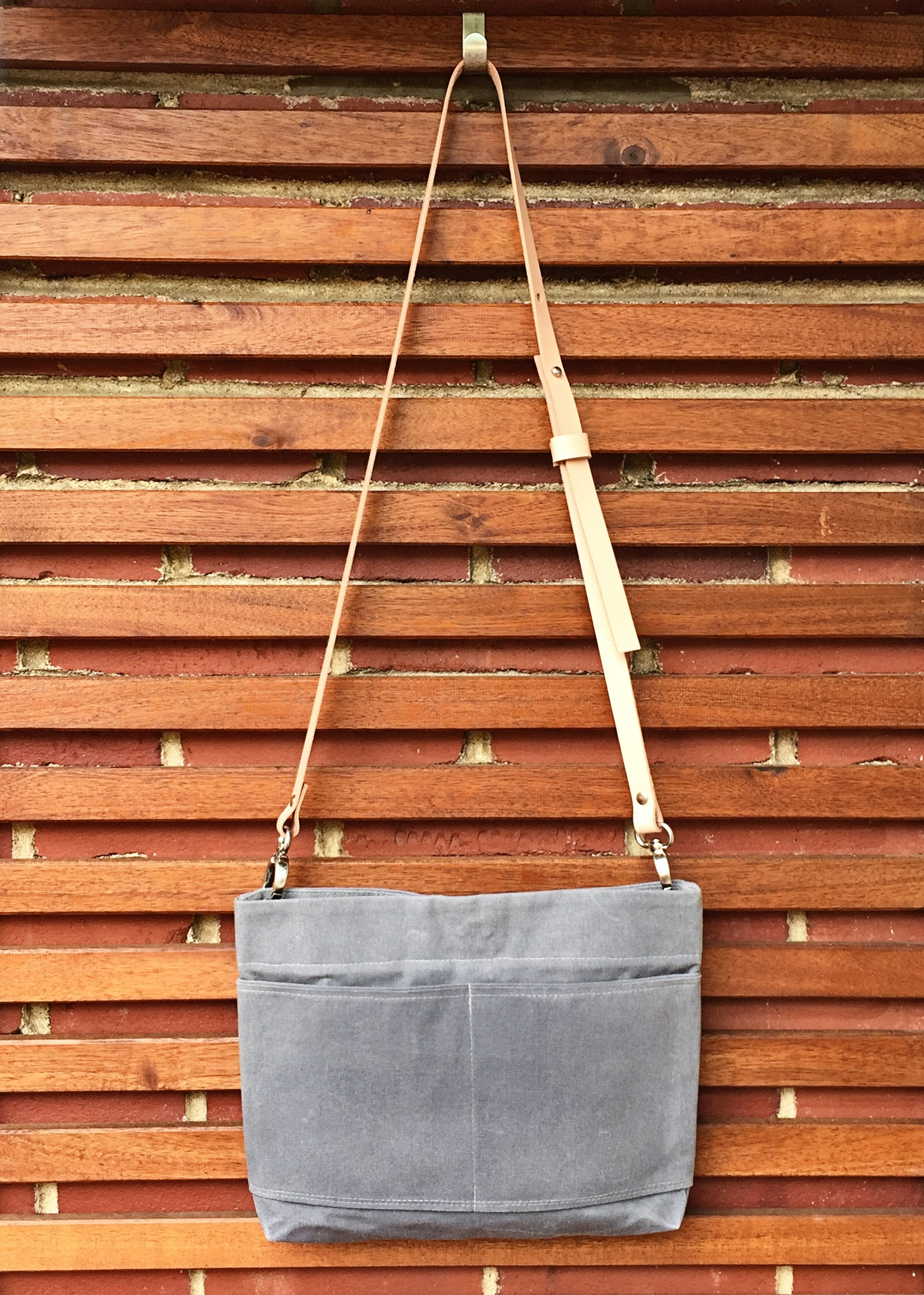Mini Crossbody Waxed Canvas Bag - 24 Colors