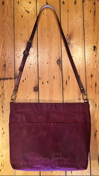 Hand Waxed Canvas Bag - Cross Body Bag - 24 Color Options