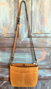 Mini crossbody Waxed Canvas Bag - Honey