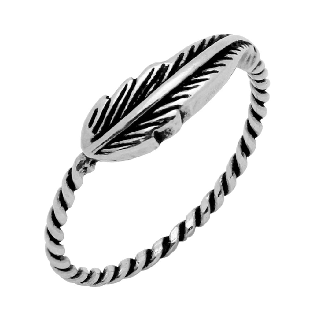 925 STERLING SILVER FEATHER RING  Free Shipping anywhere in the US!