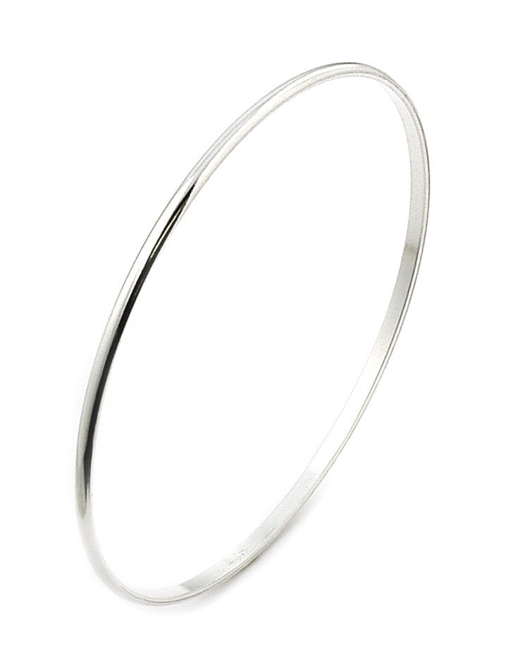925 Sterling Silver 2MM PLAIN BANGLE Free 3 day US Shipping!