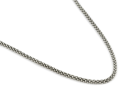 Size: 16★ OXIDIZED STERLING SILVER 2.5MM COREANA  OXIDIZED STERLING SILVER 2.5MM COREANA CHAIN