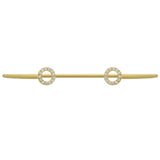 GOLD PLATED WIRE BANGLE WITH SMALL CZ RINGS