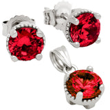 BIRTHSTONE CZ  PENDANT AND EARRINGS Buy set get free 16 inch 925 silver chain