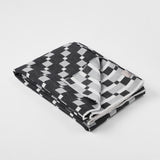 Contemporary , monochrome, merino wool blanket  woven in England, perfect for sofa or bed.