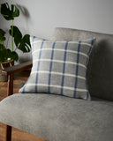 Emilie cushion in Cornflower Blue and Grey