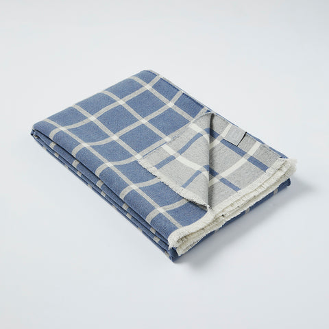 Deco blanket in Cornflower Blue