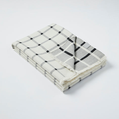 Deco blanket in White