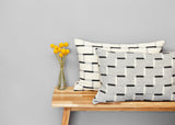 Steps cushion in Pearl Grey