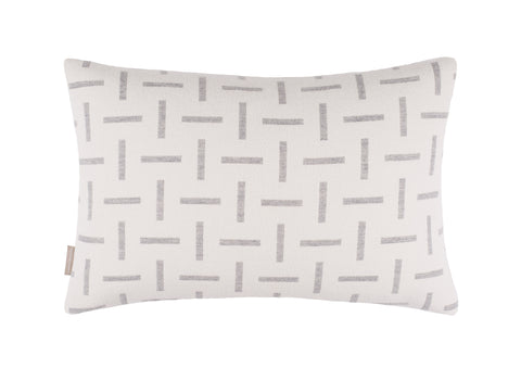 Dash cushion in Ecru/Pearl Grey