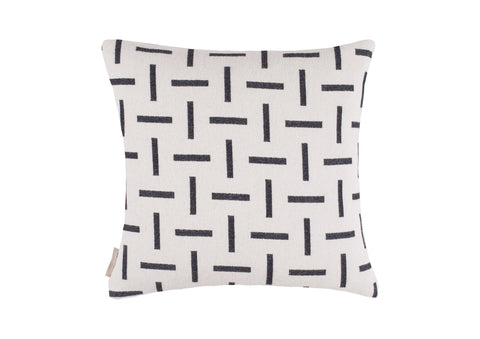 Cushion cover sample sale Dash in Ecru/Graphite