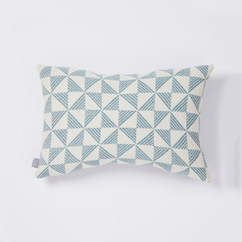 Porto cushion in White/Aqua