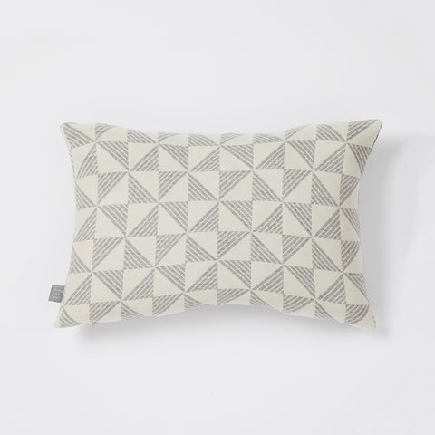 Porto cushion in White/Pearl Grey