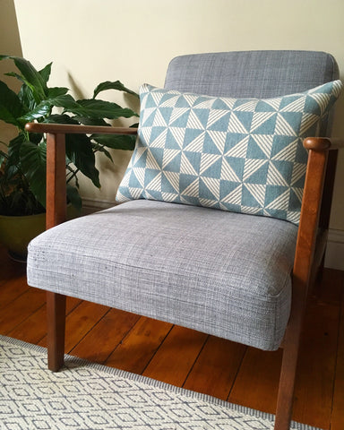 Sample sale Porto cushion in Aqua