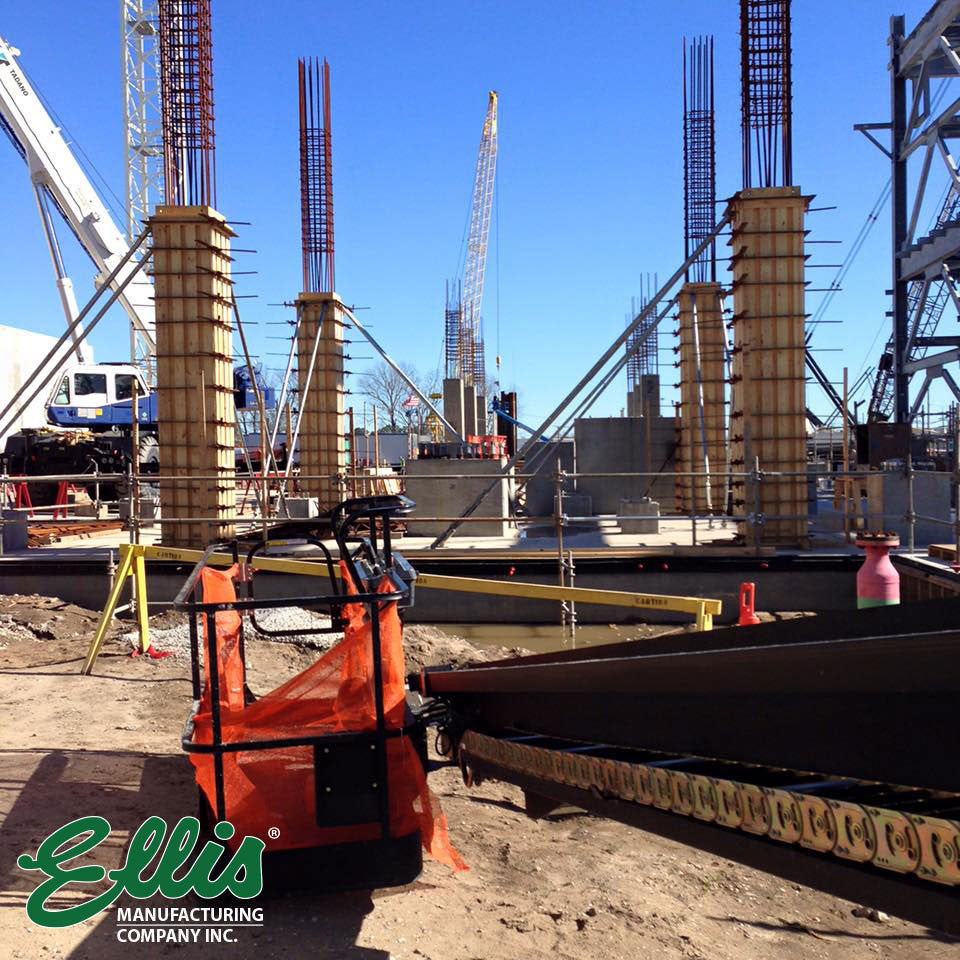 Ellis CC-60 Column Clamps On 20 ft. Concrete Columns