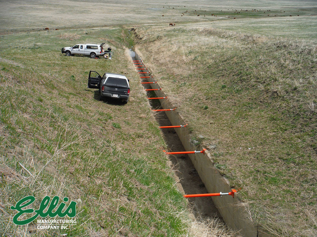 Support Spillway With Heavy Duty Steel Shores Ellis MFG