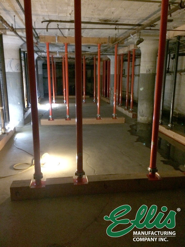Shoring Ground Floor Of Old Building To Support Increased Load