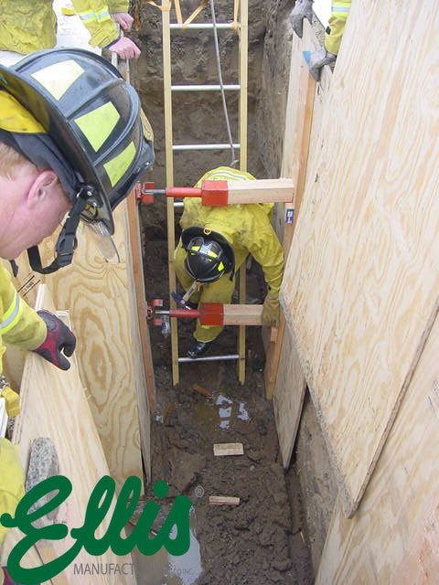 Trench Shoring Rescue With Ellis MFG Screw Jacks