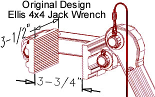 Ellis Manufacturing Co. H-4 Shore Jack Wrench Diagram