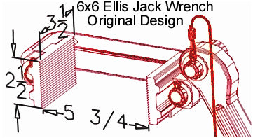 Ellis Manufacturing Co. H-6 Shore Jack Wrench Diagram