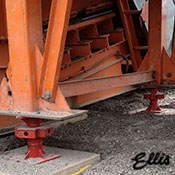 Ellis Manufacturing Co. Bridge Jack under high load - BJ-6